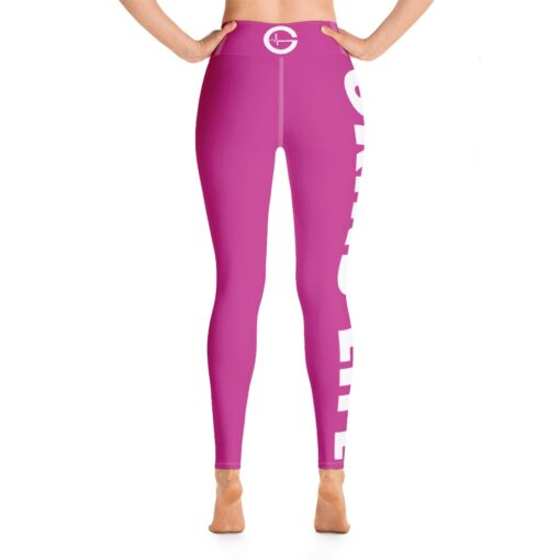 GLPW Womens Workout Leggings   Pink   Back   Grind Life Athletics