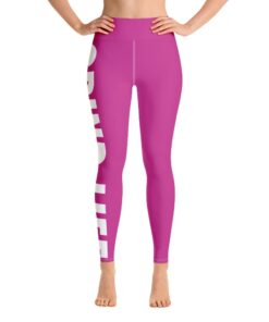 GLPW Womens Workout Leggings | Pink | Front | Grind Life Athletics