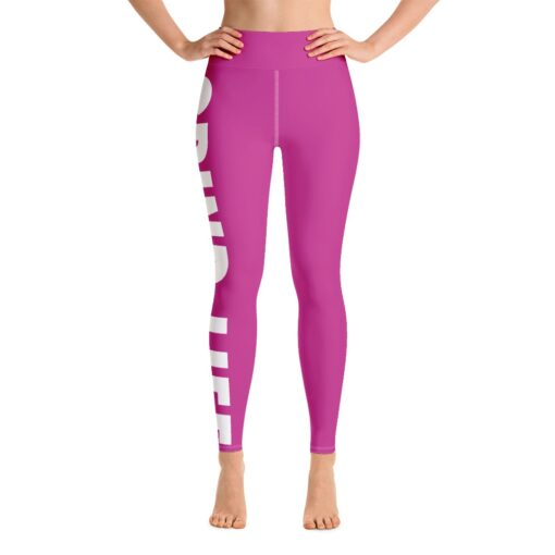 GLPW Womens Workout Leggings   Pink   Front   Grind Life Athletics