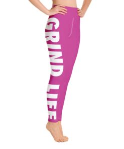 GLPW Womens Workout Leggings | Pink | Right | Grind Life Athletics