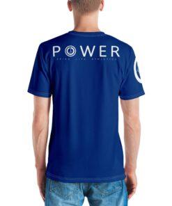 Power II Mens T-Shirt | Royal | Back | Grind Life Athletics
