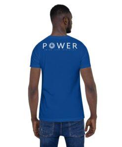 Power Mens TShirt | Back | Royal | Grind Life Athletics