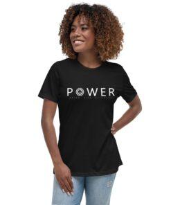 POWER BXT Womens Athleisure Shirt | Front | Black | Grind Life Athletics