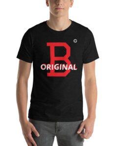 GLA B Original Mens T-shirt | Front | Black Heather | Grind Life Athletics