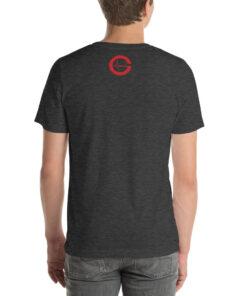 GLA Laser Focus Mens T-shirt | Back | Dark Grey Heather | Grind Life Athletics