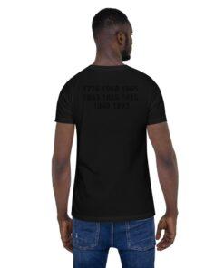 GLA Unisex Black Power Tee | Back | Grind Life Athletics