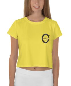 Jungle G Womens Workout Crop Tee | Yellow | Grind Life Athletics