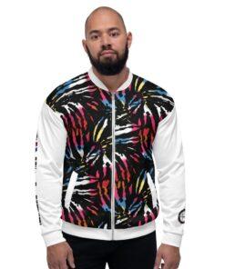 GLA Jungle Print Mens Bomber Jacket | Front | Grind Life Athletics