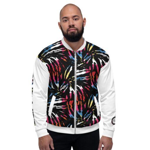 GLA Jungle Print Mens Bomber Jacket   Front   Grind Life Athletics