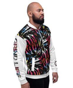 GLA Jungle Print Mens Bomber Jacket   Right   Grind Life Athletics