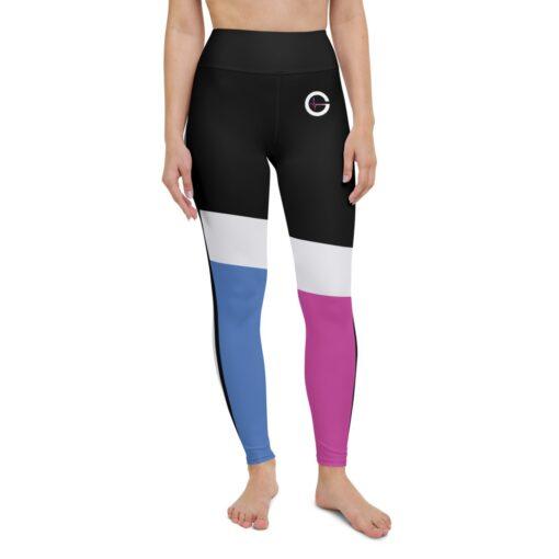 ColorBlocks-Workout-Leggings-Pink-Blue-Front-Grind-Life-Athletics