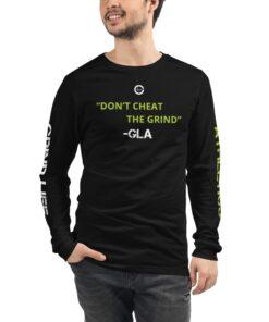GLA-100-Long-Sleeve-Shirt-1-Black-Front-2-Grind-Life-Athletics