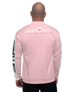 GLA-ONE-Mens-Bomber-Pink-Back-Grind-Life-Athletics