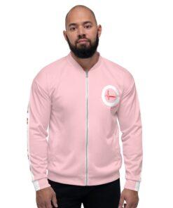 GLA-ONE-Mens-Bomber-Pink-Front-Grind-Life-Athletics