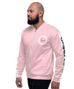 GLA-ONE-Mens-Bomber-Pink-Left-Grind-Life-Athletics