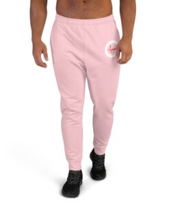 GLA-ONE-Mens-Joggers-Pink-Front-Grind-Life-Athletics
