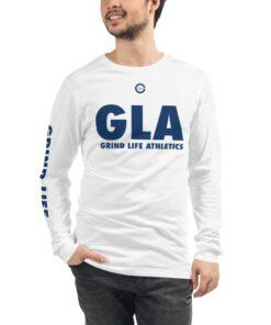 GLA-Unisex-Long-Sleeve-Shirt-Navy-White-Right-50-Grind-Life-Athletics