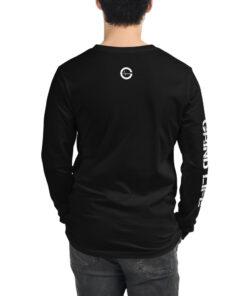 GLA-Unisex-Long-Sleeve-Shirt-White-Black-Back-Grind-Life-Athletics