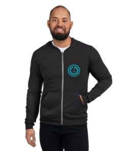GLA-Power-Zip-Up-Hoodie-Blue-Char-Front-Grind-Life-Athletics